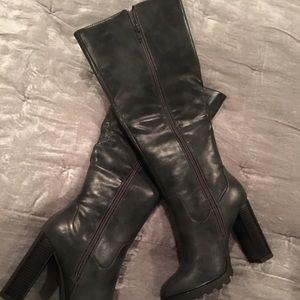 Just Fab Lorana Heeled Knee High Boots